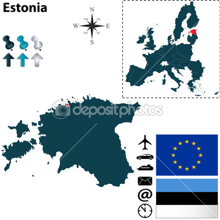 Eesti depositphotos_36484377-Map-of-Estonia-with-European-Union