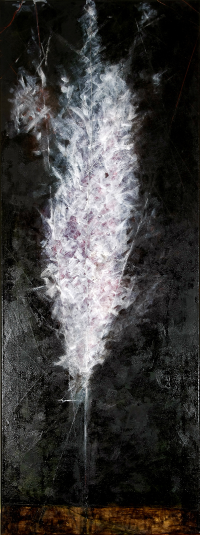 06 Sixth Silence,Oil on Canvass, 170x60