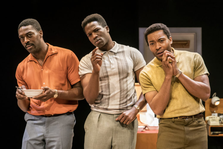 ONE NIGHT IN MIAMI by Powers, , Writer – Kemp Powers, Director - Kwame Kwei-Armah, Designer – Robert Jones, Lighting – Oliver Fenwick, The Donmar Waehouse, 2016, Credit: Johan Persson/